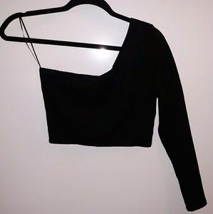Forever 21 one shoulder ribbed knit top